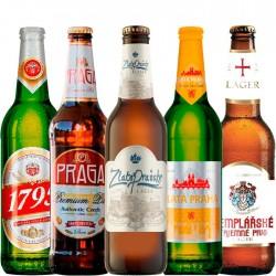 Kit Degustação de Cervejas da República Tcheca com 5 Cervejas