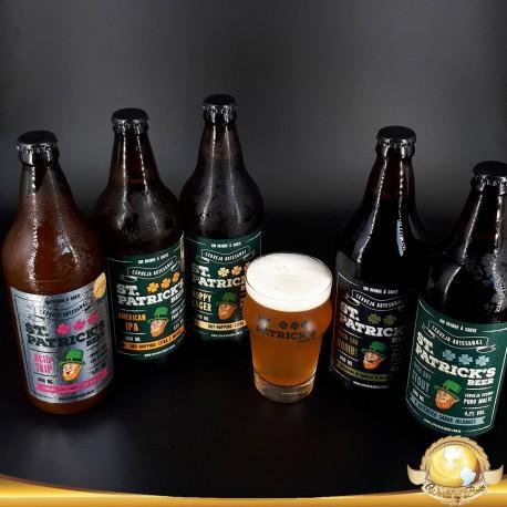 Kit Degustação St. Patrick's com 5 Cervejas e 1 Copo