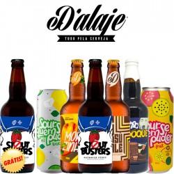 Kit Degustação D'alaje Com 6 Cervejas e 1 de Brinde!