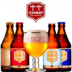 Kit Degustação Chimay com 4 Cervejas e 1 Copo