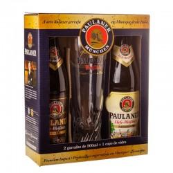 Kit Cerveja Paulaner com 2 Garrafas e 1 Copo