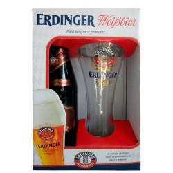Kit da Cerveja Erdinger Dunkel com 1 Garrafa e 1 Copo