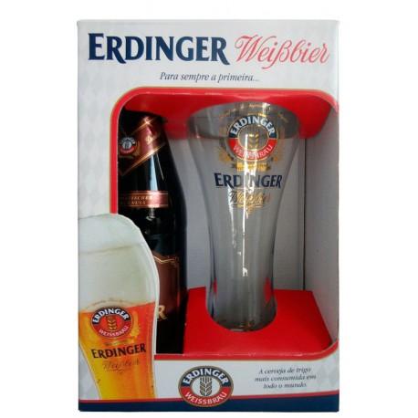 Kit da Cerveja Erdinger Dunkel 1 Garrafa e 1 Copo