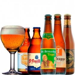 Kit Degustação Tripel com 5 Cervejas e 1 Copo