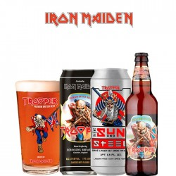 Kit Iron Maiden Trooper com 3 Cervejas e 1 Copo