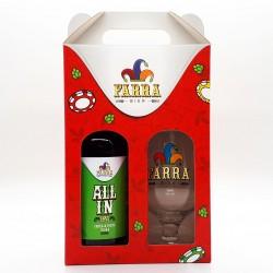 Kit Farra Bier com 1 Cerveja All In IPA e 1 Taça