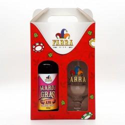 Kit Farra Bier com 1 Cerveja Mardi Gras APA e 1 Taça