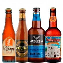 Kit Degustação do Estilo Tripel com 4 Cervejas