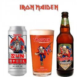 Kit Degustação Iron Maiden Trooper com 2 Cervejas e 1 Copo