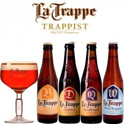 Kit Degustação La Trappe com 4 Cervejas e 1 Copo