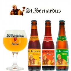 Kit Degustação St. Bernardus com 3 Cervejas e 1 Copo