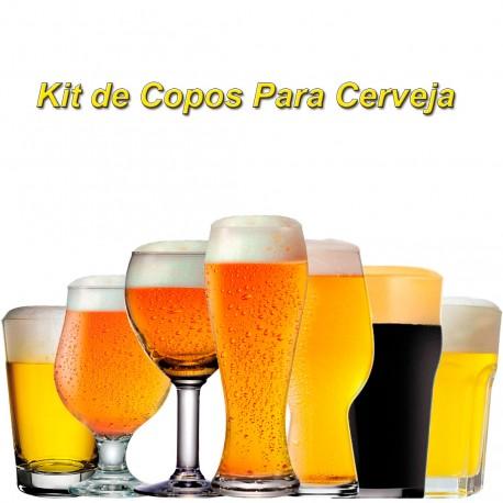 Kit de Copos Para Cerveja com 7 Unidades