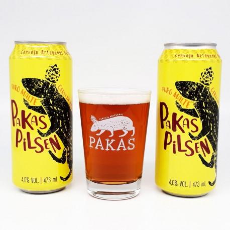 Kit Degustação PaKas Pilsen com 2 Cervejas e 1 Copo