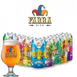 Kit Degustação Farra Bier com 9 Cervejas em Lata 350ml