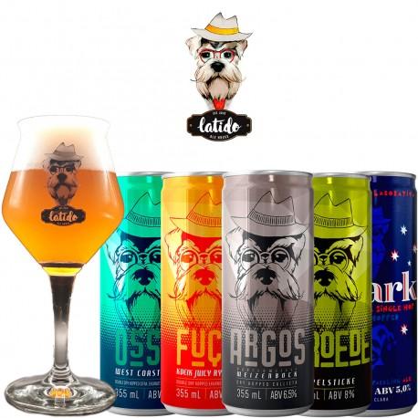 Kit Degustação Latido Ale House com 5 Cervejas e 1 Taça