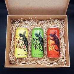 Kit PaKas com 3 Cervejas em Caixa MDF