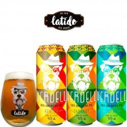Kit Degustação Latido Ale House Verdell com 3 Cervejas e 1 Copo