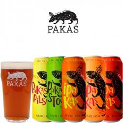 Kit Degustação PaKas com 5 Cervejas e 1 Copo