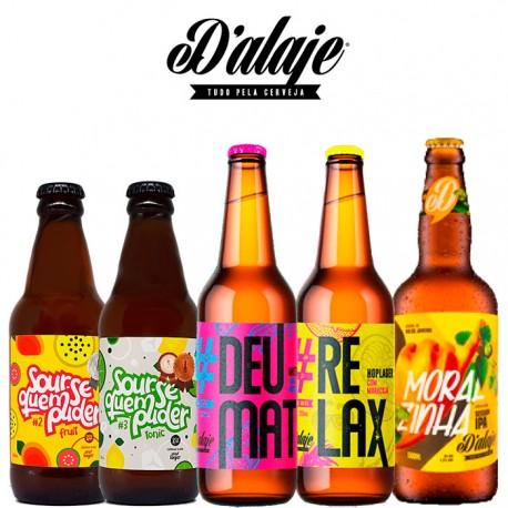 Kit Degustação D'alaje Com 5 Cervejas
