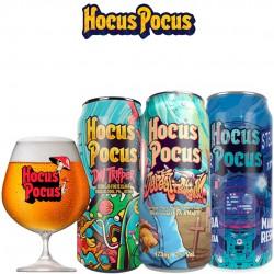 Kit Degustação Hocus Pocus com 3 Latas e 1 Taça