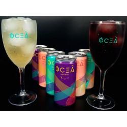 Kit Drink de Vinho Oceà com 6 Latas e 2 Taças