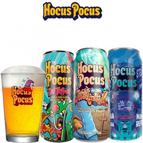 Kit Degustação Hocus Pocus com 3 Latas e 1 Caldereta