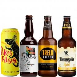 Kit Degustação Pilsen / Lager com 4 Cervejas