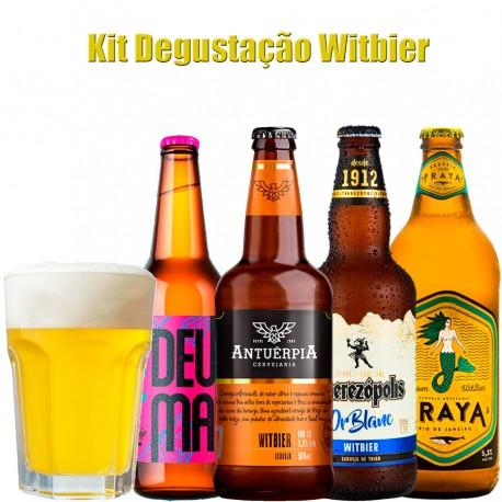 Kit Degustação Witbier com 4 Cervejas e 1 Copo