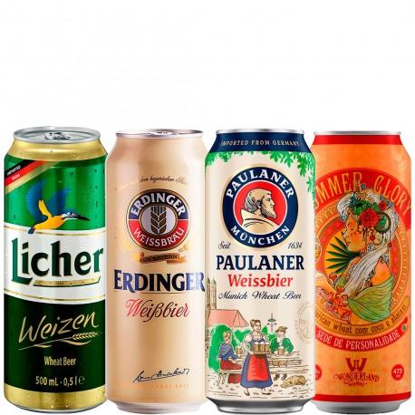 Kit Degustação de Cervejas de Trigo Com 4 Unidades