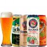Kit Degustação de Cervejas de Trigo Com 4 Latas e 1 Copo