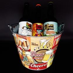 Balde com Kit Degustação Hocus Pocus 3 Cervejas 500ml