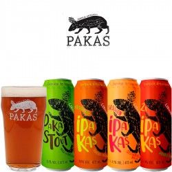 Kit Degustação PaKas com 4 Cervejas e 1 Copo