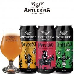 Kit Degustação Antuérpia com 3 Cervejas e 1 Taça