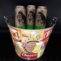 Balde com Kit Degustação Wood Pakastout 3 Cervejas 473ml