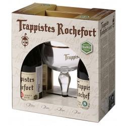 Kit Cerveja Trappistes Rochefort com 4 Garrafas e 1 Copo