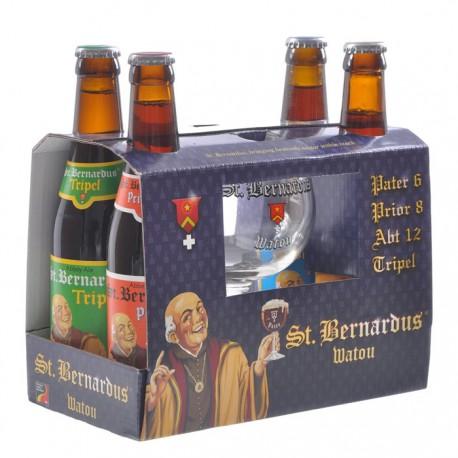 Kit Cerveja St. Berbardus com 4 Garrafas e 1 Copo