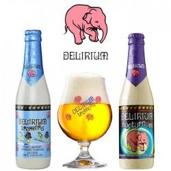 Kit Degustação Delirium com 2 Cervejas e 1 Copo