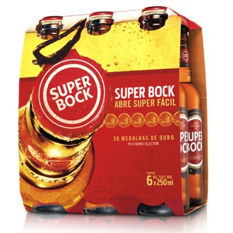 Pack com 6 Cervejas Super Bock Mini 250ml
