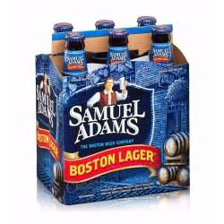 Pack com 6 Cervejas Samuel Adams Boston Lager 355ml