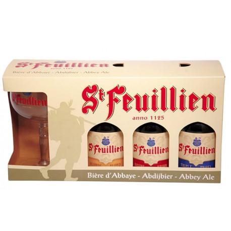 Kit St Feuillien com 3 Garrafas e 1 Taça