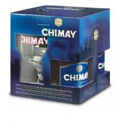 Kit Chimay Blue com 3 Cervejas e 1 Taça