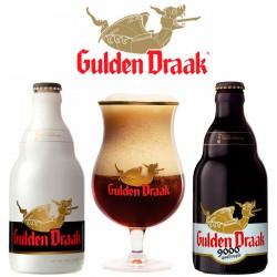 Kit Degustação Gulden Draak com 2 Cervejas e 1 Taça 250ml