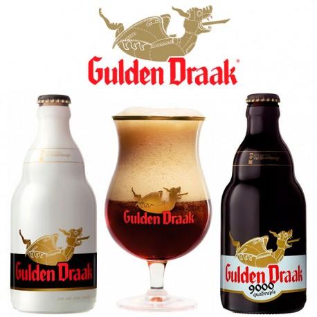 Kit Degustação Gulden Draak com 2 Cervejas e 1 Taça