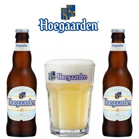 Kit Degustação Hoegaarden com 2 Cervejas e 1 Copo