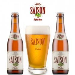 Kit Degustação St Feuillien Saison com 2 Cervejas e 1 Copo