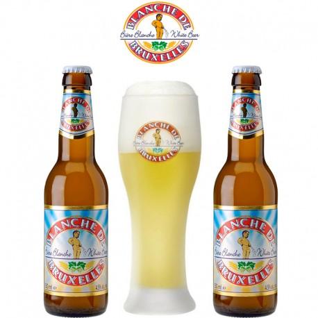 Kit Degustação Blanche de Bruxelles com 2 Cervejas e 1 Copo