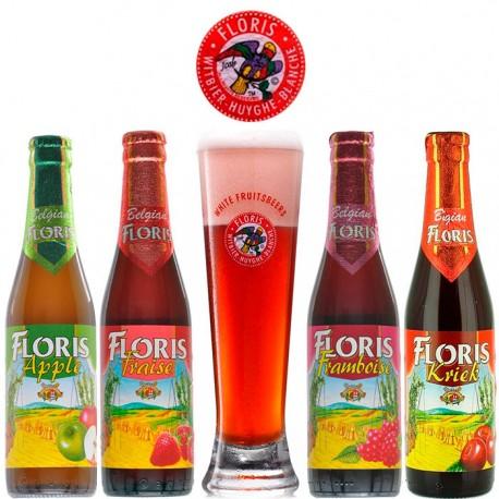 Kit Degustação Fruit Beer Floris com 4 Cervejas e 1 Copo