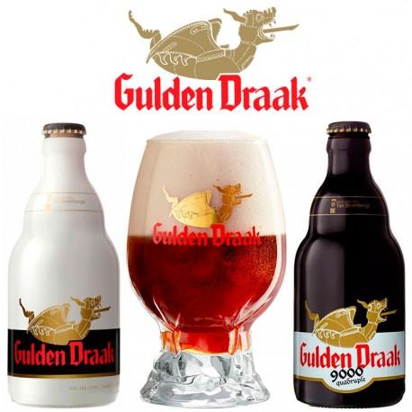 Kit Degustação Gulden Draak com 2 Cervejas e 1 Copo Novo