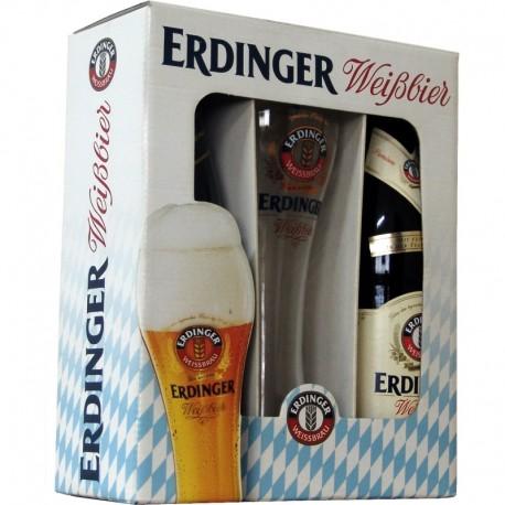 Kit Cerveja Erdinger com 2 Garrafas e 1 Copo 500ml