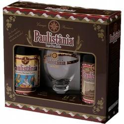 Kit Cerveja Paulistânia com 2 Garrafas e 1 Copo